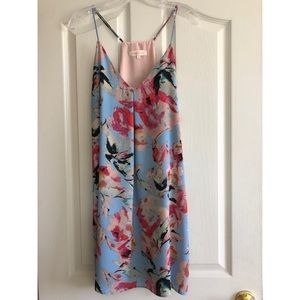 Floral Eight Sixty Light Blue Dress EUC